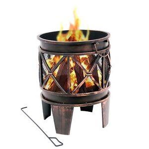 "Feuerkorb ""Plum"" Terrassenofen Feuerschale Garten Grill Gartenfeuer Feuerstelle"