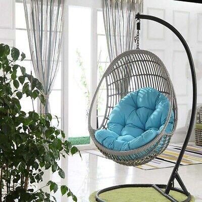 Hanging Garden Chair Weave Egg w/ Cushion In Outdoor Rattan Swing Patio  | eBay