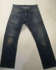HOMME-COUPE-DROITE-Levi-039-s-514-W31-L30-Denim-Jeans-Fonce-Bleu-Delave-Levi-Strauss