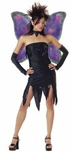 Gothic Evil Pixie Fairy With Wings Teen Costume | eBay