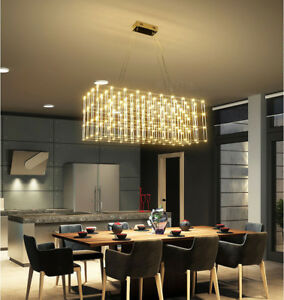 Details About Universe Rectangular Modern Led Jan Pauwels Chandelier Pendant Ceiling Light