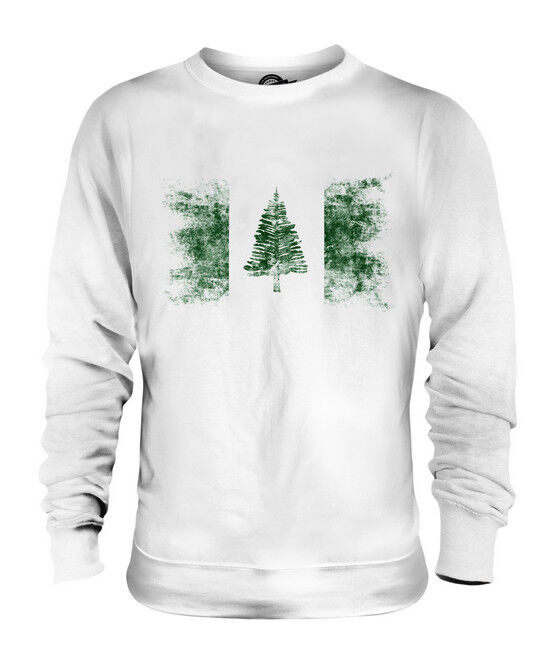 NORFOLK ISLAND DISTRESSED FLAG UNISEX SWEATER TOP GIFT SHIRT CLOTHING JERSEY