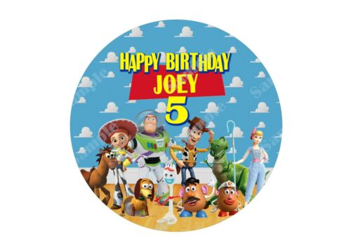 Custom Toy story edible birthday cake Topper image picture sugar paper cupcakes