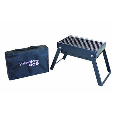 Yellowstone Midi Folding Pack Away BBQ with Carry Case Camping Festivals Picnics