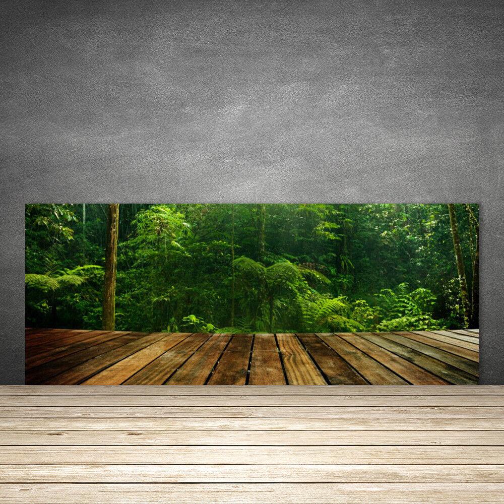 Crédence de cuisine en verre Panneau 125x50 Nature Forêt