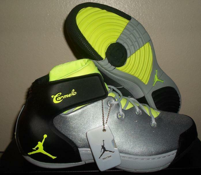 New Nike Air Jordan Retro 2 II 3  XI Melo 1.5 Wolf Grey Volt Basketball shoes 11