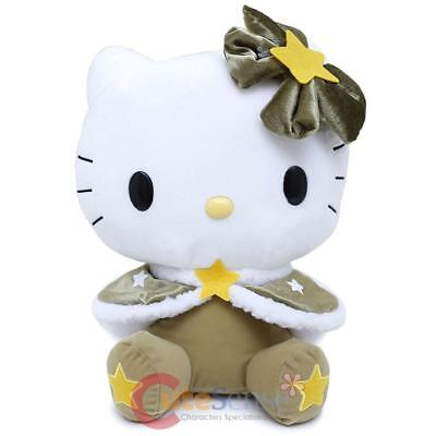 Sanrio Hello Kitty Plush Doll Holiday Star Green Soft Stuffed Toy Japan
