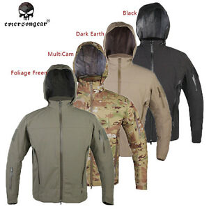 480c522bba760 Image is loading Emerson-Softshell-Jacket -Hoodie-Light-Weight-Windproof-Hooded-