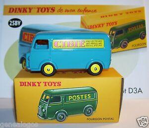 Dinky Toys Atlas Fourgon Peugeot D3a Cibie Bleu Ref 25bv 1/43 In Box No Poste B