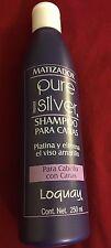 Matizador PURE SILVER Primer LOQUAY Shampoo Para Canas 8.45 Fl Oz