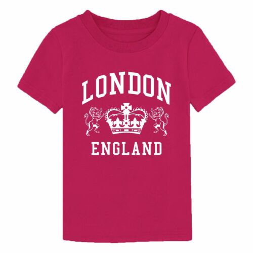 London England T Shirt Novelty Souvenir Birthday Gift Youth Boy Girl Kids Top