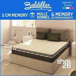 Materasso a Molle e Memory Foam 13 Zone H 26 cm 80 90 120 140 160 180 190 200