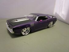 JADA 1/24 BIGTIME MUSCLE PURPLE 1970 PLYMOUTH BARRACUDA *READ* NO BOX