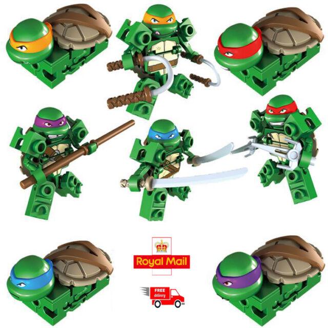 b4ad366367187 Set of 4 Pcs LEGO TMNT Mini Figures Kids Toys Teenage Mutant Ninja Turtles  Gift for sale online