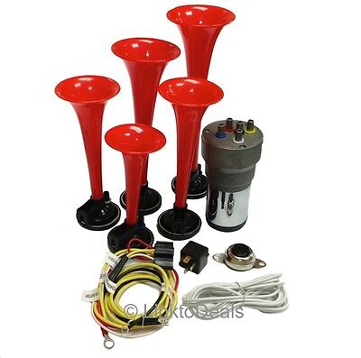 Dixie Car Air Horns Dukes of Hazzard with Horn Button and Installation Wire Kit