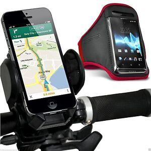 Quality-Bike-Bicycle-Handlebar-Phone-Holder-Sports-Armband-Case-Cover-Red