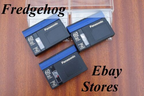 A Pack 3 X Panasonic DVM-60 Mini Dv Digital Video Camcorder Bänder//Kassetten