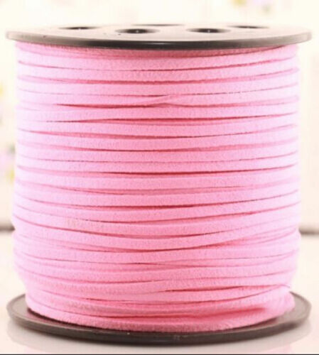 3M Wholesale 3mm Suede Leather String Jewelry Making Bracelet DIY Thread Cord