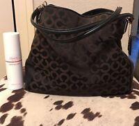 Coach Madison Phoebe Black Op Art Purse/Handbag 26448