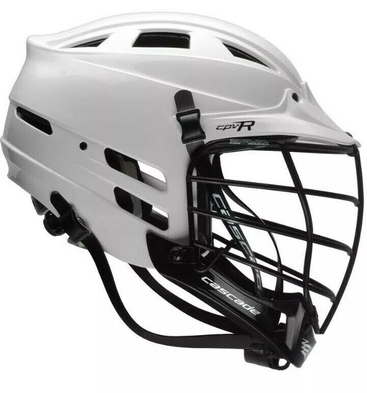 Brand New White Cascade CPV-R Lacrosse Helmet Cage Lacrosse Gear As Small