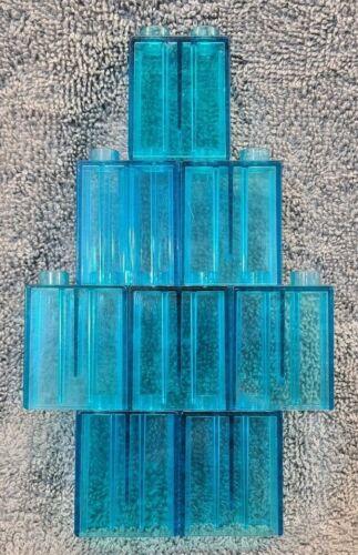 LEGO DUPLO 8 Transparent Free UK Delivery Clear Blue Bricks Bundle 2x1x2