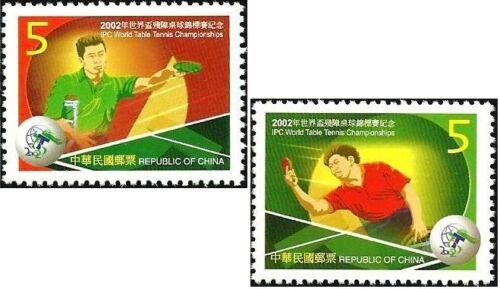 China Taiwan Stamp(3438-3439)-2002-288(841)-2002 IPC World Table Tennis