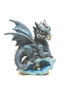 StealStreet-SS-G-71581-Blue-Medieval-Baby-Dragon-Crystal-Egg-Nest-Ornament
