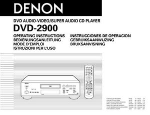 denon dvd 2900 dvd player owners manual ebay rh ebay com dvd player user guide dbpower portable dvd player user manual