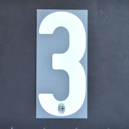 """A.C.MILAN Numero UFFICIALE /""""3/"""" 17//18 HOME"""