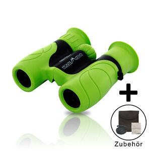 Monte-Stivo-Junior-Kinderfernglas-8X21-gruen-Klein-leicht-amp-kompakt