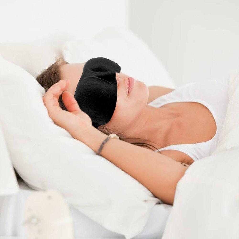 4x 3D Sleeping Eye Mask Blindfold Sleep Travel Shade Relax Cover Light Blinder 2