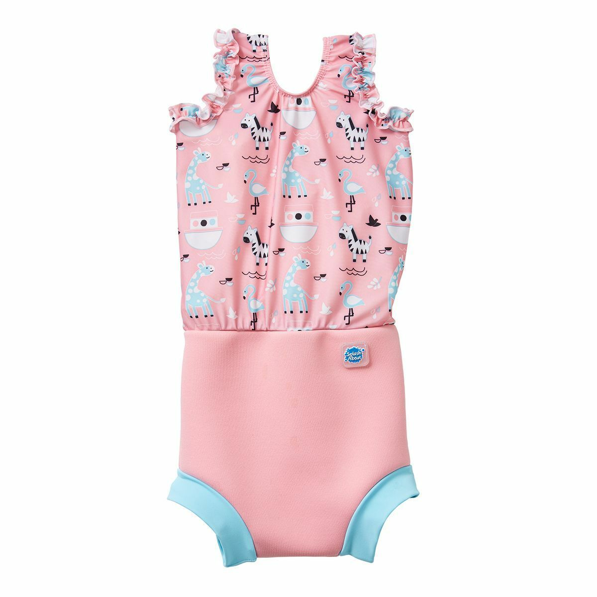 Splash About Baby Happy Nappy Wetsuit 2 in 1 Baby Wetsuit and Diaper X Large 12-24 Months, Tutti Frutti