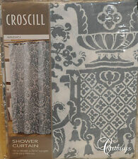"NEW CROSCILL Shower Curtain Medici Cotton Ocean Blue 70"" W X 72"" L"