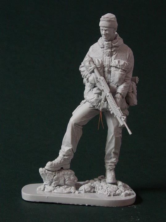 AC Models British SAS Soldier Falklands 1982 120mm Unpainted resin figure kit