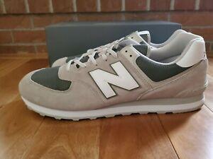 New Balance 574 Sapato Masculino Tamanho 18 2E Luz Cliff Cinza ...