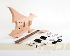 Solid Body DIY Electric Guitar Builder Kit Project Mahogany Unfinished New
