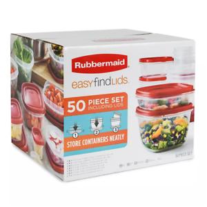 Rubbermaid 50-Piece Easy Find Lids Food Storage Set