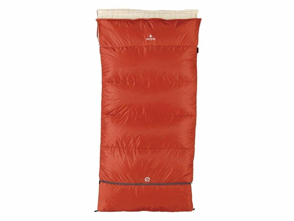 Snow peak Sleeping Bag Separate Shruff Ofuton Wide LX BD104 Red F S from Japan
