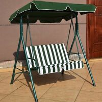 Outdoor Patio Swing Seat Canopy Awning Yard Furniture Hammock Steel 3 Colors Us