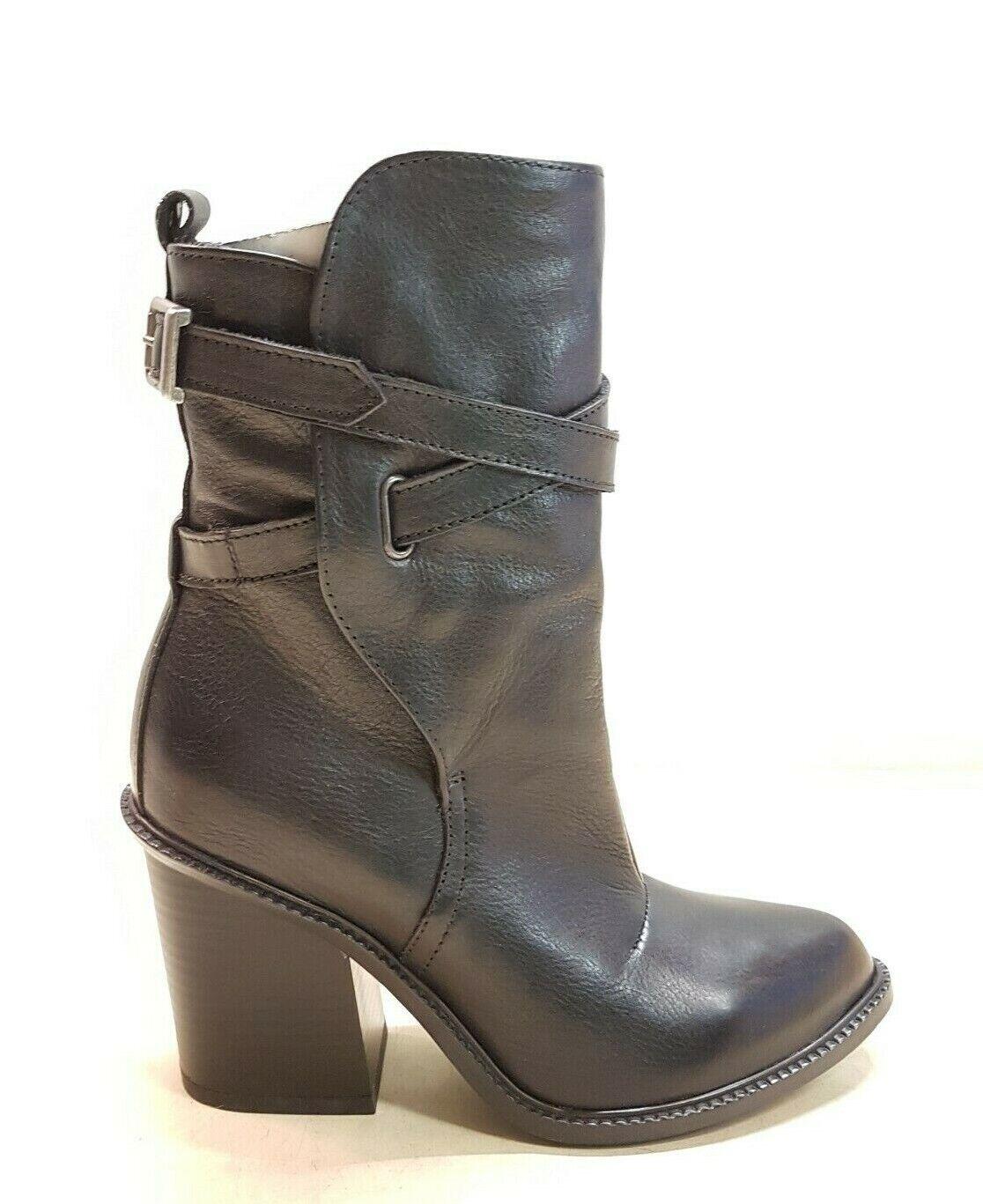 013) Luxus Designer DIESEL Schuhe Stiefletten Leder Gr.36 37  NEU schwarz