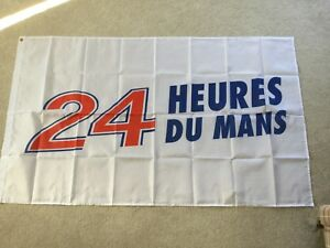 24 hour Le Mans classic Porsche Ford Chevrolet Audi Nissan workshop flag banner