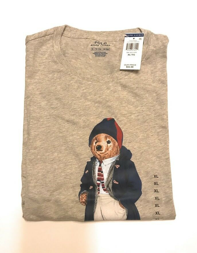 Polo Bear T Shirt NWT Größe XL Sept. 2017 Edition Ralph Lauren(INV 1174-78)