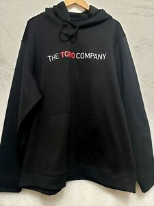 TORO MOWERS LOGO Mens Black Pullover Hooded Sweatshirt long sleeve  2XL Poly