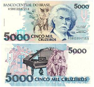 Brazil-5000-Cruzeiros-P-232c-1990-93-Banco-Central-do-Brasil-UNC
