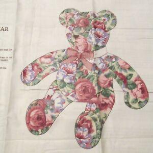 Cranston Teddy Bear Cotton Fabric Panel To Make 23 Stuffed Animal