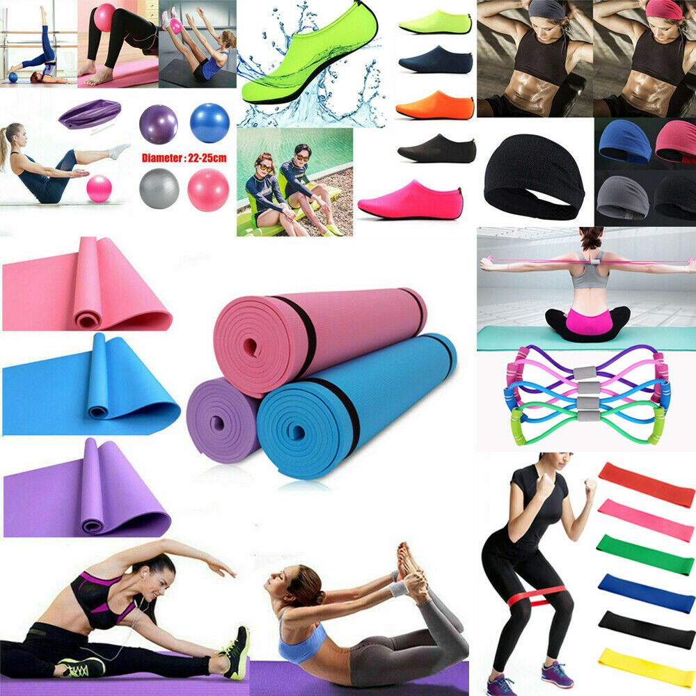 Exercise Fitness Pilates Sports Yoga Mat Gym Ball Socks Headband Yoga Belt Props