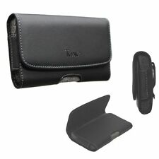 XL Size Leather Holster Carry Pouch Case for HTC One S9 (All Carriers)