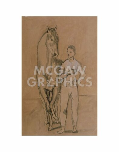 """4172 PICASSO PABLO-HORSE WITH A YOUTH IN BLUE 1905-6-ART PRINT POST 14/"""" x 11/"""""""