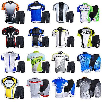 Herren Atmungsaktiv Fahrradbekleidung Jersey Fahrradtrikot & Radlerhose Kurzarm