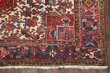 Antique Geometric Tribal Red Handmade Oriental Heriz Area Rug Wool Carpet 7x10